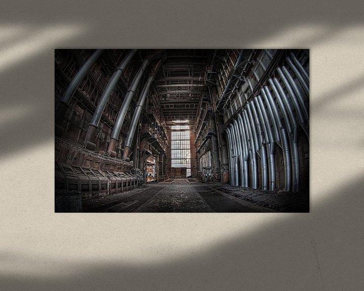Sfeerimpressie: De kathedraal der verval (Urbex) van Eus Driessen