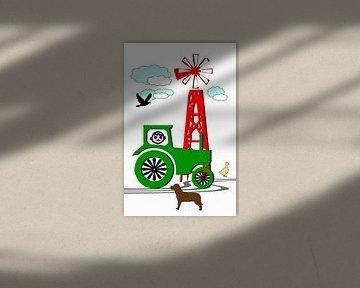 Tractor green van Roswitha Lorz