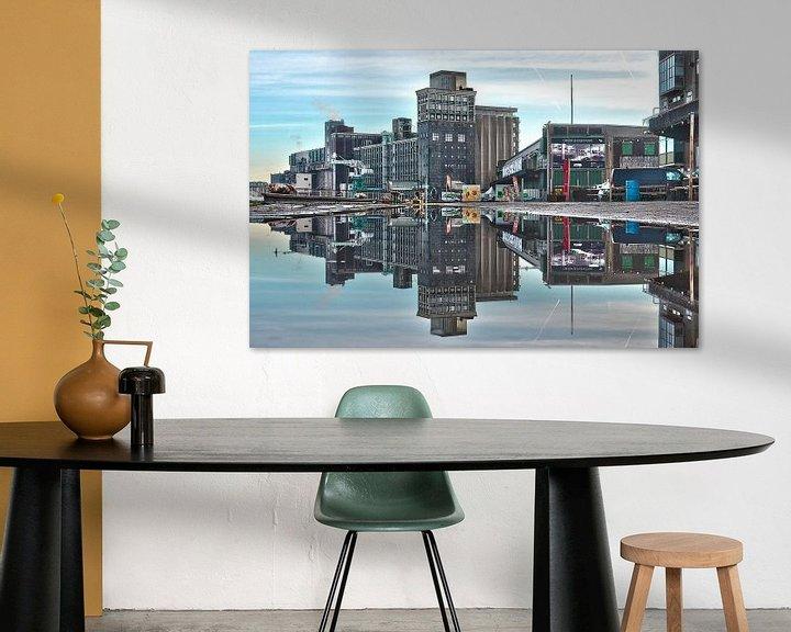 Sfeerimpressie: Graansilo en Fenixloodsen op Katendrecht, Rotterdam van Frans Blok