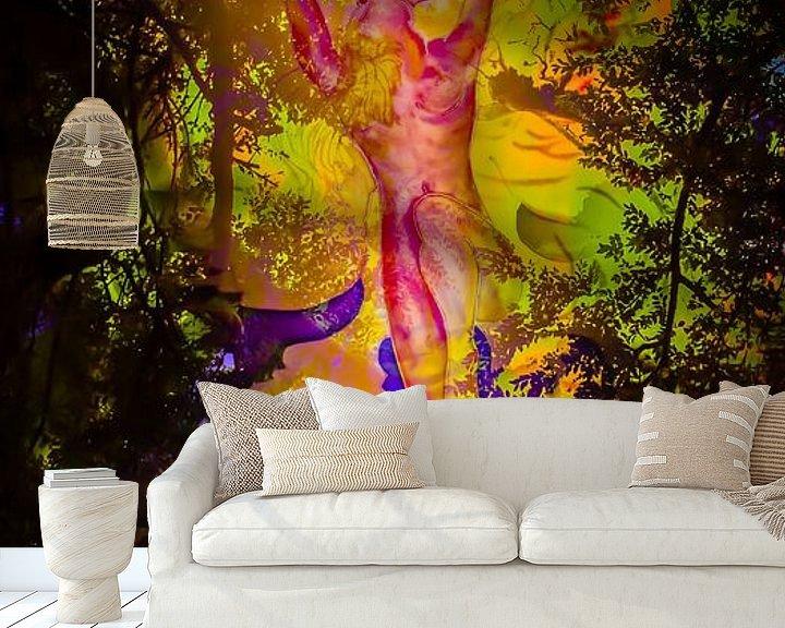 Sfeerimpressie behang: Engel van Walter Zettl