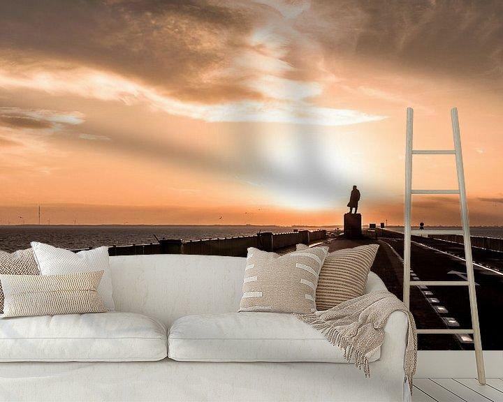 Sfeerimpressie behang: Afsluitdijk van Alex Hiemstra