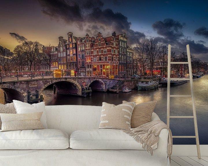 Sfeerimpressie behang: Amsterdam  van Michiel Buijse