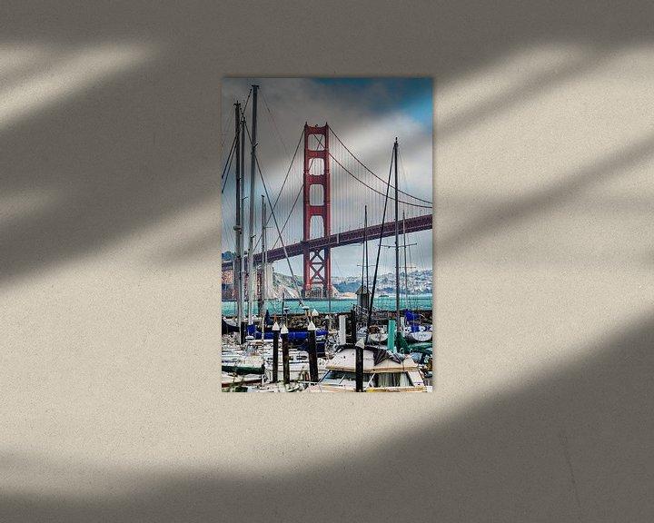 Sfeerimpressie: Golden Gate Bridge vanaf de Presidio Yacht Club van Ricardo Bouman