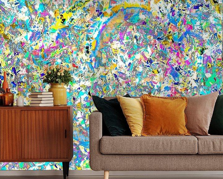 Sfeerimpressie behang: colors colors van Freddy Hoevers