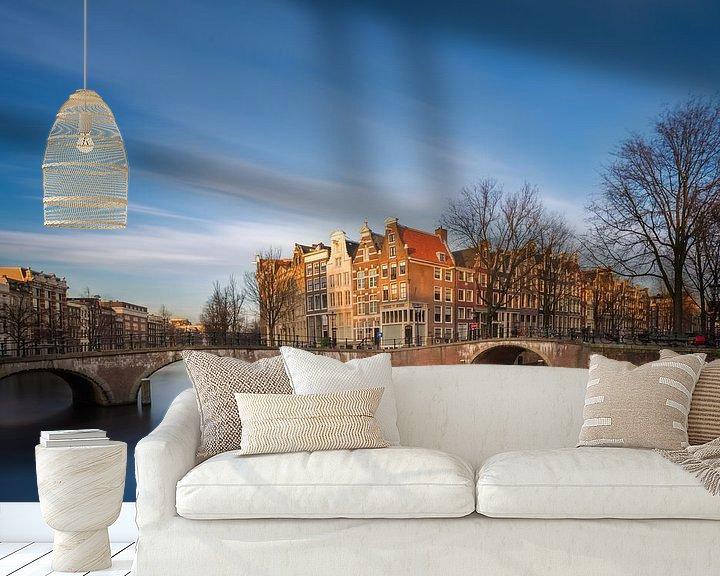 Sfeerimpressie behang: Keizersgracht Amsterdam II van Martijn Kort