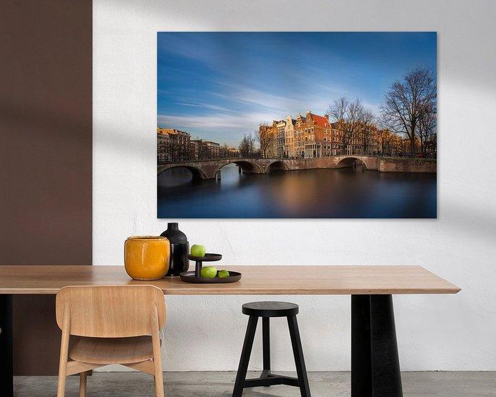 Sfeerimpressie: Keizersgracht Amsterdam II van Martijn Kort