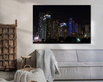 Dubai Marina skyline van Nicole Wetzels