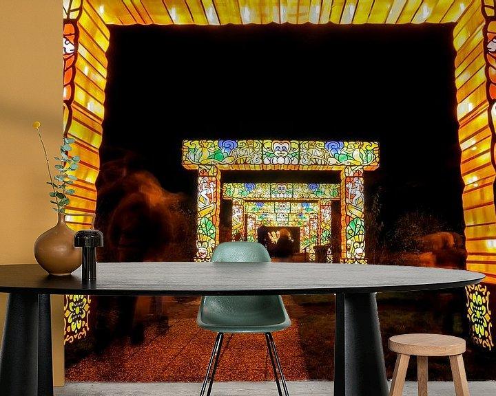 Sfeerimpressie behang: Lichtpoort van Jan van der Knaap