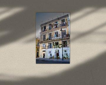 gebouw in cuba van Karin Verhoog