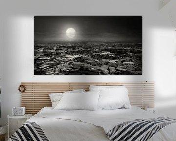 Engelse countryside bij maanlicht van Frank Wijn