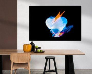 burning heart (5) van Norbert Sülzner