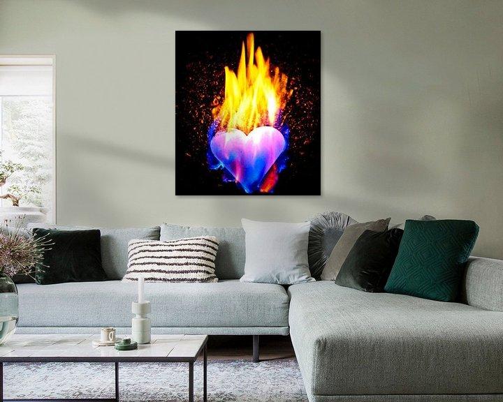 Sfeerimpressie: burning heart (7) van Norbert Sülzner