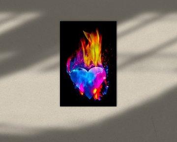 burning heart (1) van Norbert Sülzner