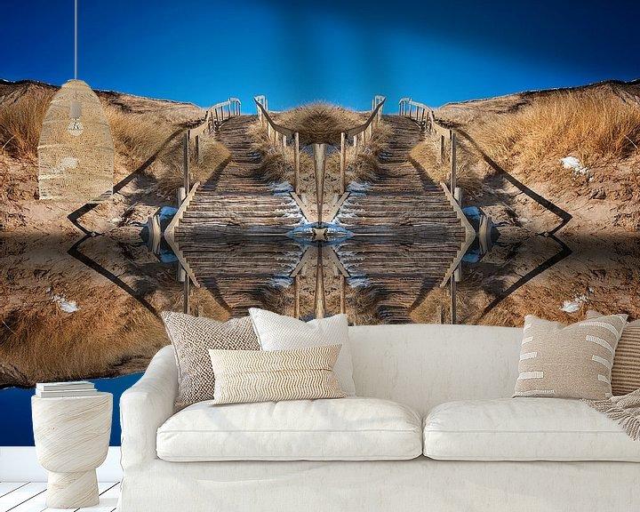 Beispiel fototapete: Treppe vom Wasser in den Himmel von Peter Roder