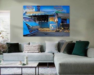 Blauw straatbeeld van Antwan Janssen
