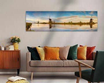Panorama Dutch Mills van Jan Koppelaar