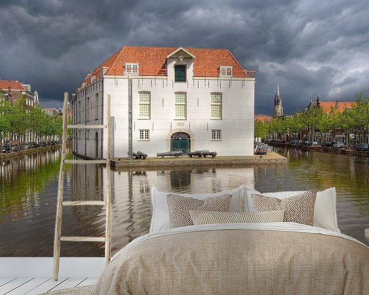 Sfeerimpressie behang: Legermuseum in Delft van Jan Kranendonk