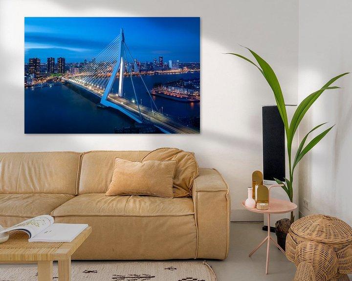 Beispiel: Rotterdam: Erasmusbrücke und die Skyline von John Verbruggen