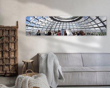 Rijksdag Berlijn (Panorama) van Bart van Uitert