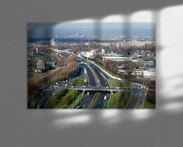 Uitzicht op Den Haag vanuit Zoetermeer van John Verbruggen