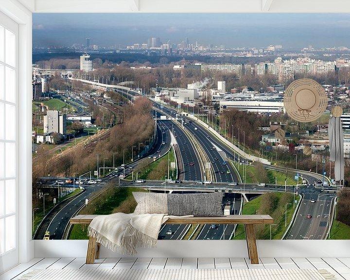 Beispiel fototapete: Uitzicht op Den Haag vanuit Zoetermeer von John Verbruggen