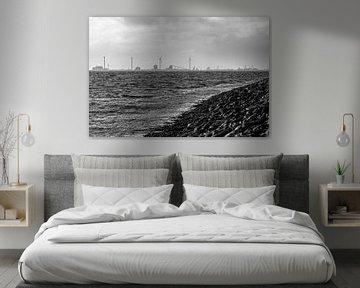 Storm op de Noordzee van Rolf Pötsch