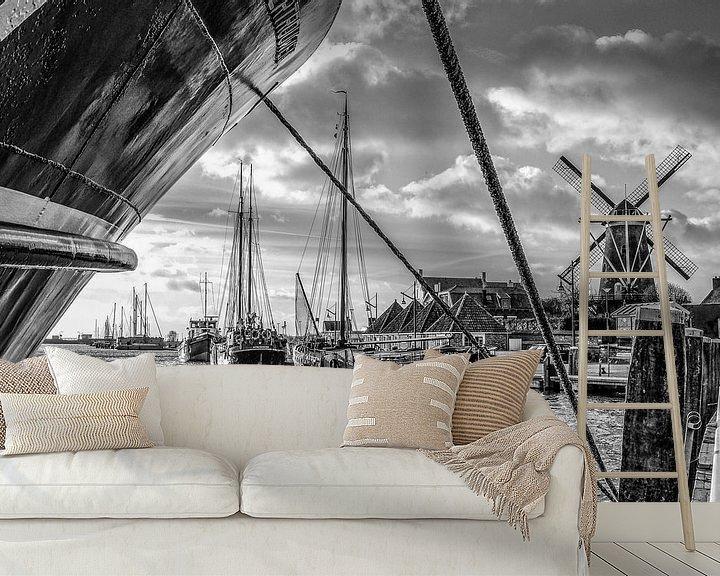 Sfeerimpressie behang: Port Zierikzee van Wessel Krul