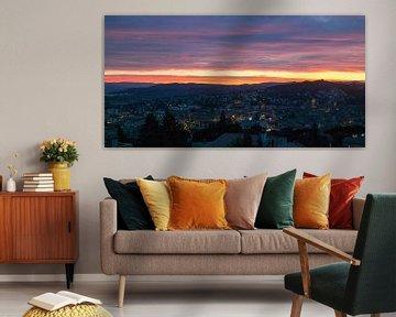 Zonsondergang in Manosque (Frankrijk) van Joran Maaswinkel
