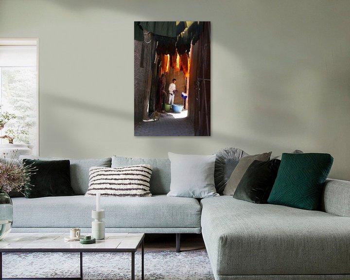 Impression: Teinture la laine Marrakech sur Inge Hogenbijl