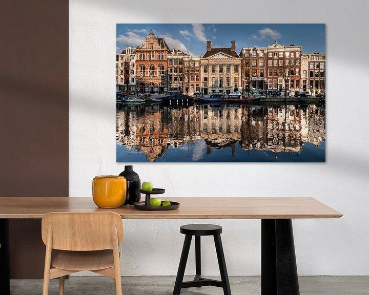 Sfeerimpressie: Amsterdam Kloveniersburgwal van Jan Sluijter