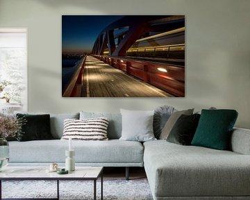 Blue Hour Trainspotting van Edwin van Nuil