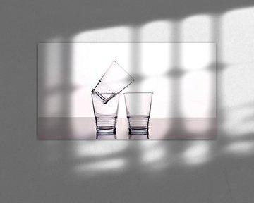 Drie lege glazen