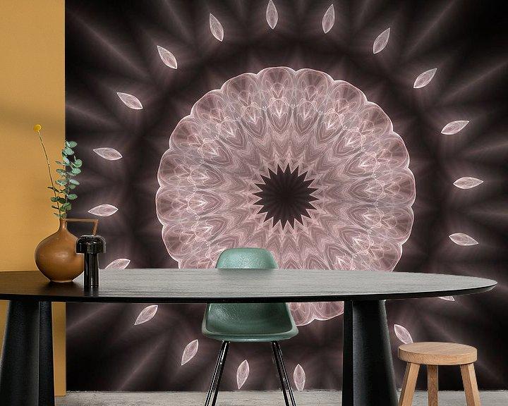 Sfeerimpressie behang: Mandala - Illusion van Dagmar Marina