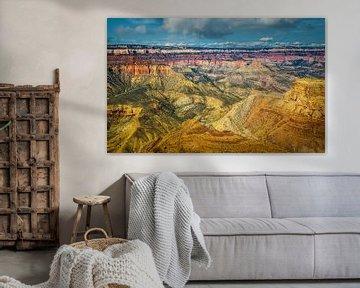 Prachtig uitzicht over de Grand Canyon vanaf de south rim