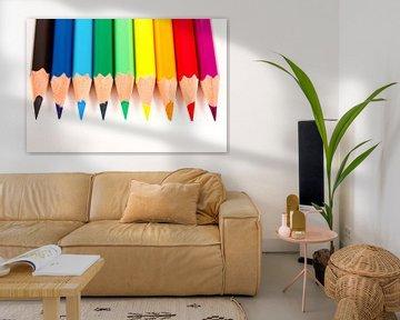 Regenboog van potloden von Kim Dalmeijer