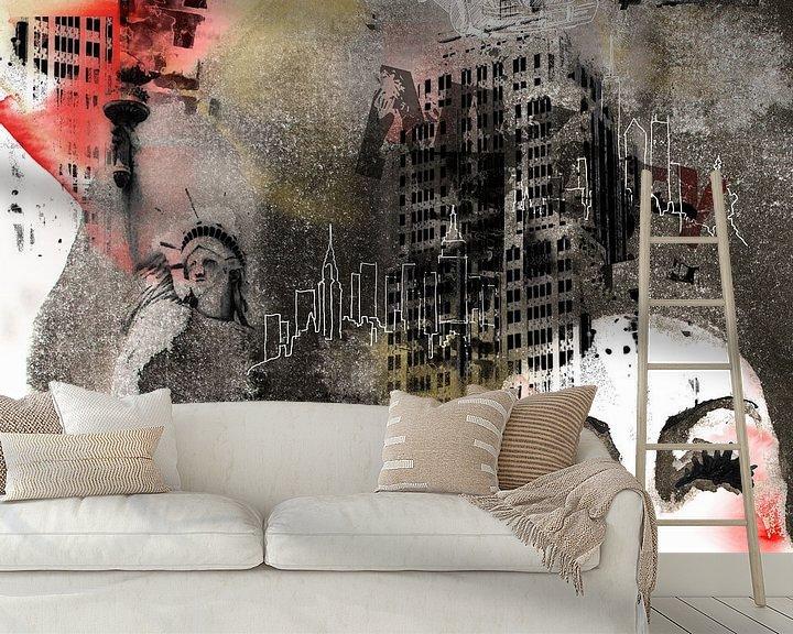 Sfeerimpressie behang: Big City van Olga Tromp