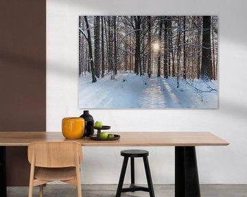 Forest in winter van Gunter Kirsch