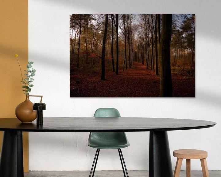 Sfeerimpressie: Gouden bospad van Jan Diepeveen