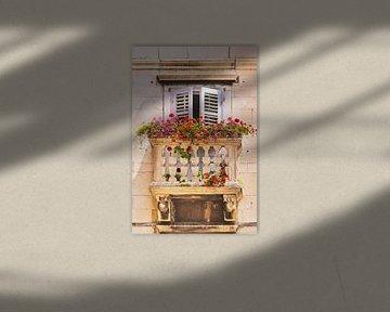 Balkon mit Blumen sur Gunter Kirsch