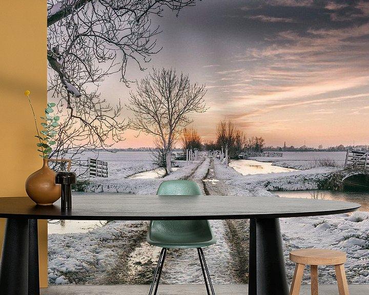 Sfeerimpressie behang: Anton Piek Winter van Rob van der Teen