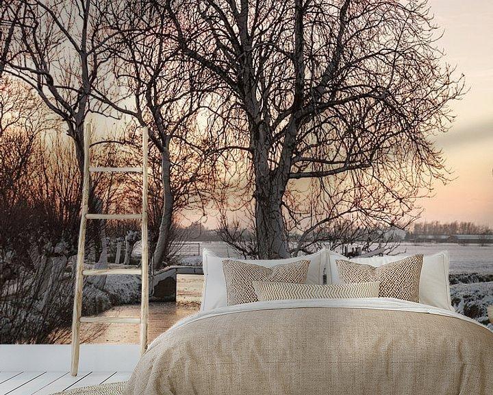 Sfeerimpressie behang: Winter in Nederland van Rob van der Teen