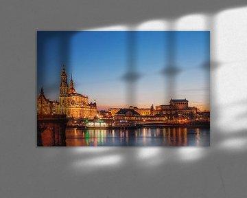 Dresden at night van Gunter Kirsch