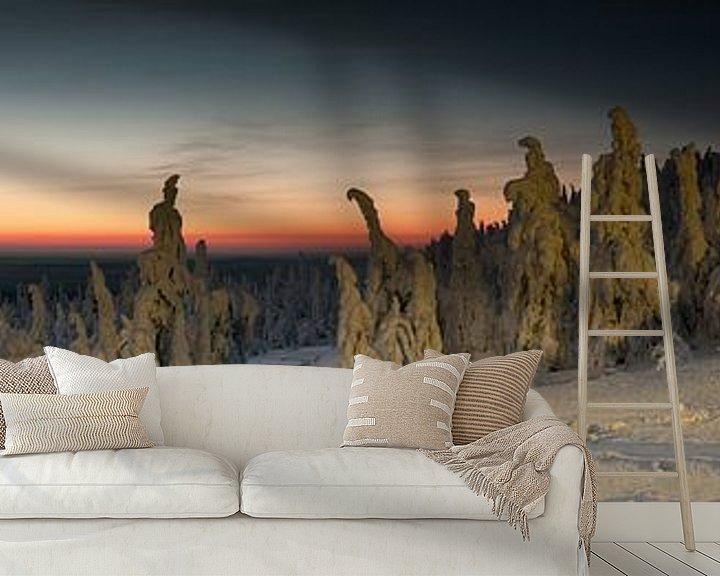Sfeerimpressie behang: Iso Syöte - Finland - Lapland van Erik van 't Hof