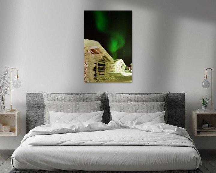 Sfeerimpressie: northern light - Iso Syöte - Finland - Lapland van Erik van 't Hof