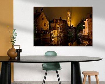 Brugge in de avond van William Boer