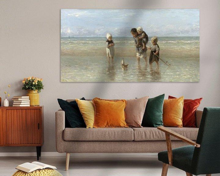 Beispiel: Kinder an der See (Jozef Israels)
