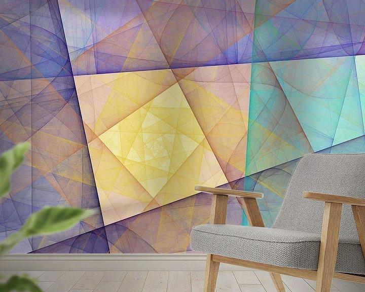 Sfeerimpressie behang: Graphic Fractal 1 van Gerrit Zomerman