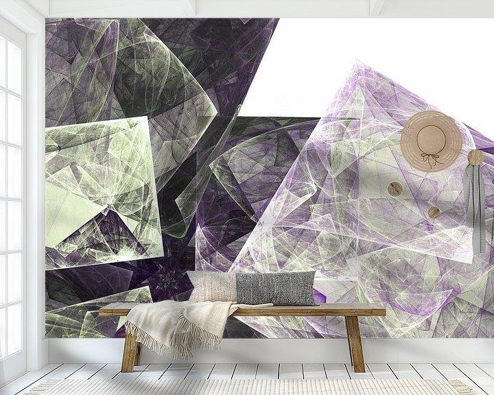 Sfeerimpressie behang: Graphic Fractal 2 van Gerrit Zomerman