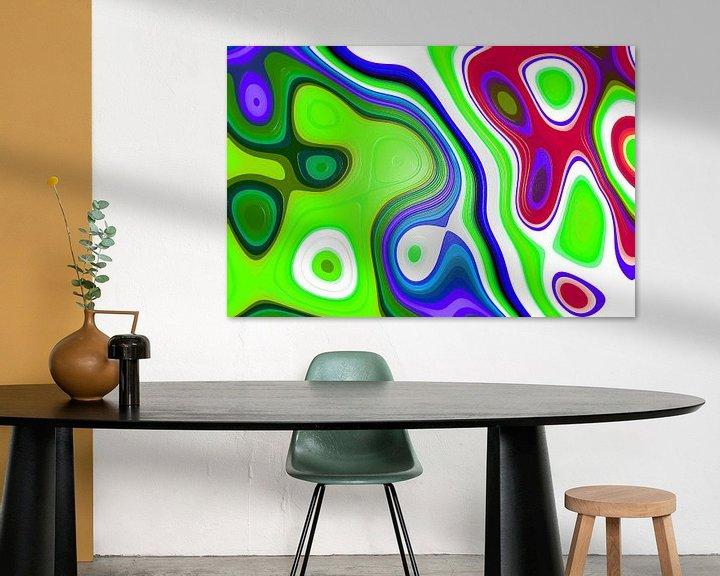 Sfeerimpressie: Colored Fractal 1 van Gerrit Zomerman