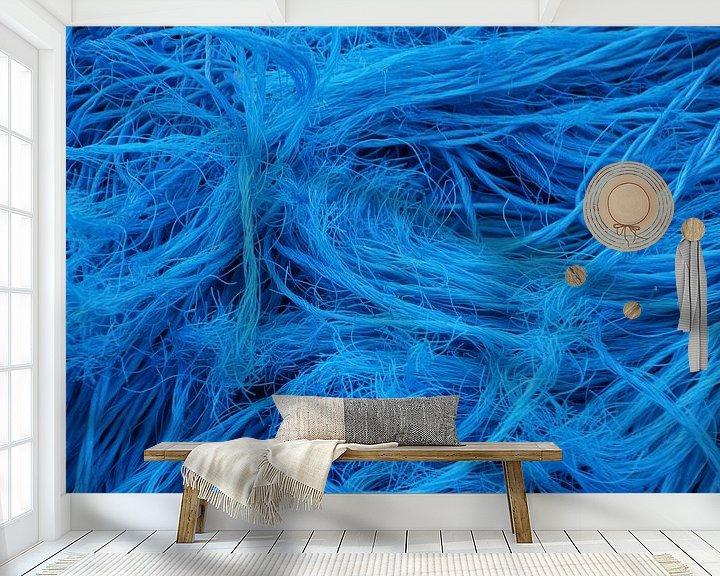 Sfeerimpressie behang: visnetten -2-  van Yvonne Blokland